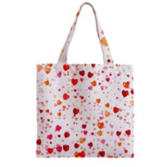 Heart 2014 0603 Zipper Grocery Tote Bags