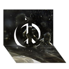 Space Like No.6 Peace Sign 3D Greeting Card (7x5)