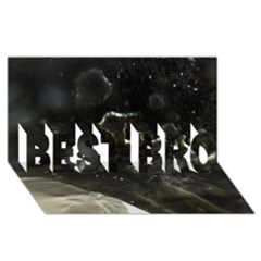 Space Like No.6 BEST BRO 3D Greeting Card (8x4)