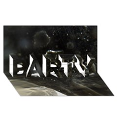 Space Like No 6 Party 3d Greeting Card (8x4)