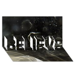 Space Like No 6 Believe 3d Greeting Card (8x4)