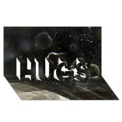 Space Like No 6 Hugs 3d Greeting Card (8x4)