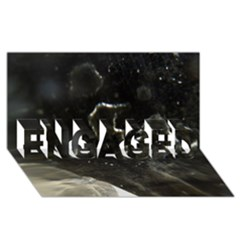 Space Like No.6 ENGAGED 3D Greeting Card (8x4)