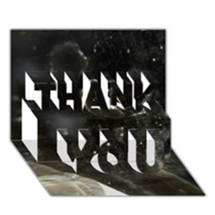Space Like No 6 Thank You 3d Greeting Card (7x5)