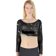 Space Like No.6 Long Sleeve Crop Top