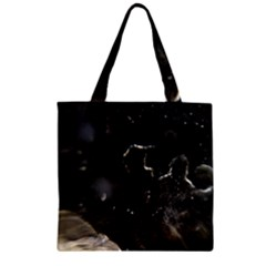 Space Like No.6 Zipper Grocery Tote Bags
