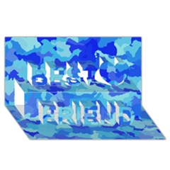 Camouflage Blue Best Friends 3d Greeting Card (8x4)