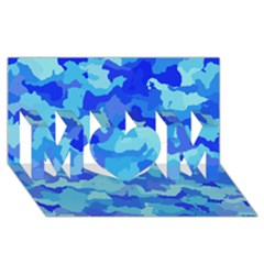 Camouflage Blue MOM 3D Greeting Card (8x4)