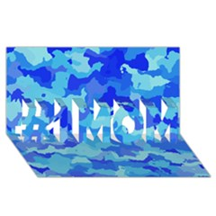 Camouflage Blue #1 MOM 3D Greeting Cards (8x4)