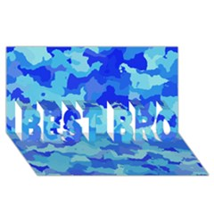 Camouflage Blue BEST BRO 3D Greeting Card (8x4)