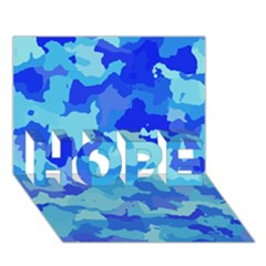 Camouflage Blue Hope 3d Greeting Card (7x5)