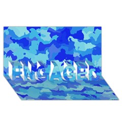 Camouflage Blue ENGAGED 3D Greeting Card (8x4)