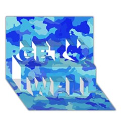 Camouflage Blue Get Well 3D Greeting Card (7x5)