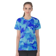 Camouflage Blue Women s Cotton Tees