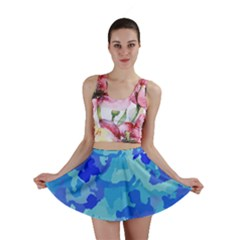 Camouflage Blue Mini Skirts