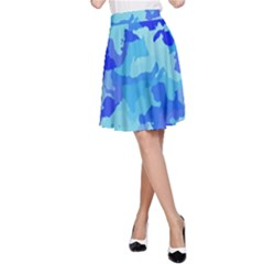 Camouflage Blue A Line Skirts