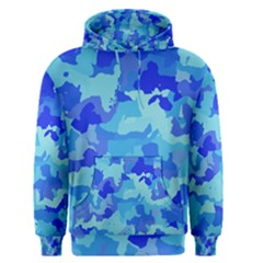 Camouflage Blue Men s Pullover Hoodies