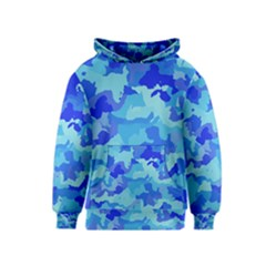 Camouflage Blue Kid s Pullover Hoodies