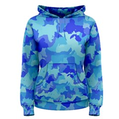 Camouflage Blue Women s Pullover Hoodies