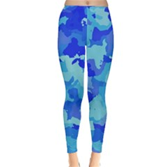 Camouflage Blue Winter Leggings