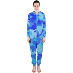Camouflage Blue Hooded Jumpsuit (Ladies)