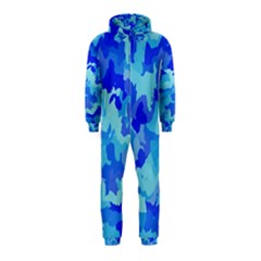 Camouflage Blue Hooded Jumpsuit (Kids)
