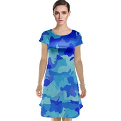 Camouflage Blue Cap Sleeve Nightdresses