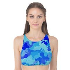 Camouflage Blue Tank Bikini Top
