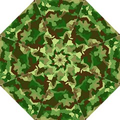 Camouflage Green Hook Handle Umbrellas (Medium)
