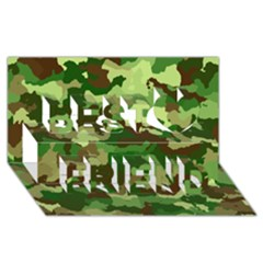 Camouflage Green Best Friends 3d Greeting Card (8x4)