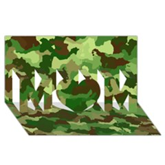 Camouflage Green Mom 3d Greeting Card (8x4)