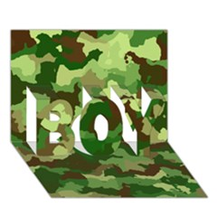 Camouflage Green BOY 3D Greeting Card (7x5)