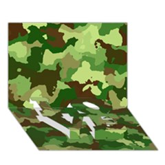 Camouflage Green LOVE Bottom 3D Greeting Card (7x5)