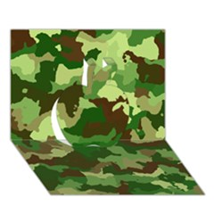 Camouflage Green Apple 3d Greeting Card (7x5)