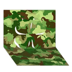 Camouflage Green Clover 3D Greeting Card (7x5)