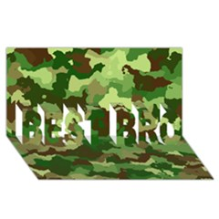 Camouflage Green Best Bro 3d Greeting Card (8x4)