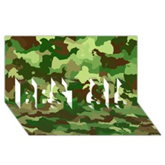 Camouflage Green BEST SIS 3D Greeting Card (8x4)