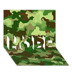 Camouflage Green HOPE 3D Greeting Card (7x5)
