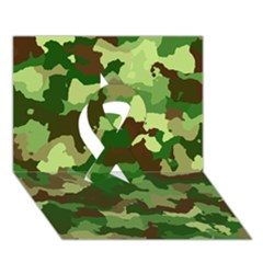 Camouflage Green Ribbon 3D Greeting Card (7x5)