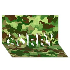 Camouflage Green SORRY 3D Greeting Card (8x4)