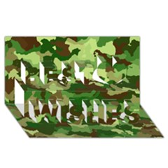 Camouflage Green Best Wish 3D Greeting Card (8x4)