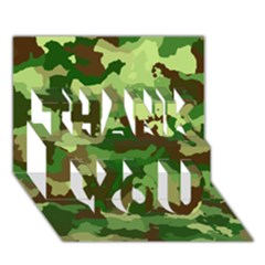 Camouflage Green Thank You 3d Greeting Card (7x5)