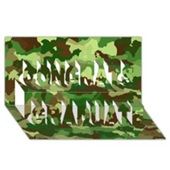 Camouflage Green Congrats Graduate 3d Greeting Card (8x4)