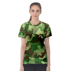 Camouflage Green Women s Sport Mesh Tees