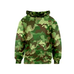 Camouflage Green Kid s Pullover Hoodies
