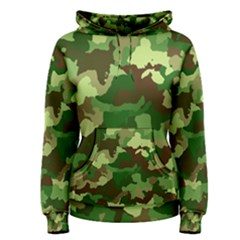 Camouflage Green Women s Pullover Hoodies