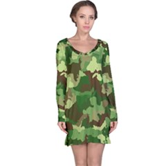 Camouflage Green Long Sleeve Nightdresses