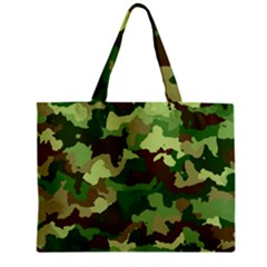 Camouflage Green Zipper Tiny Tote Bags