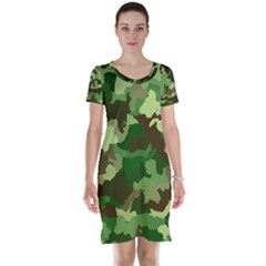Camouflage Green Short Sleeve Nightdresses