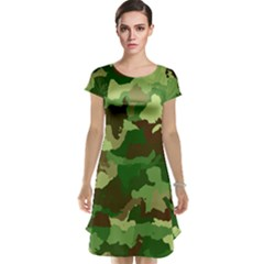Camouflage Green Cap Sleeve Nightdresses
